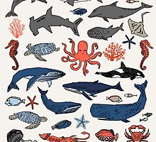 Ocean Animals by Andrea Lauren by Andrea Lauren