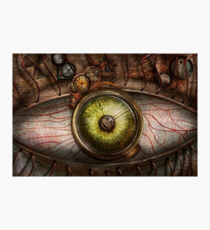 Steampunk - Creepy - Eye on technology  Photographic Print
