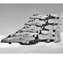 A-10 Warthogs Flying In Formation Photographic Print