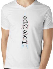 Love Type (a) Mens V-Neck T-Shirt