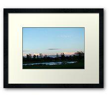 Serene Suburbia Framed Print