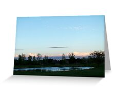 Serene Suburbia Greeting Card
