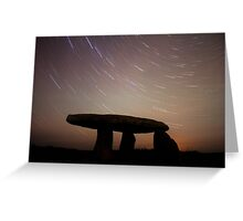 Cornwall Ancient Monument Star Trails Greeting Card
