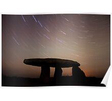 Cornwall Ancient Monument Star Trails Poster