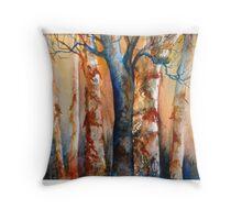 Fall Birches Throw Pillow