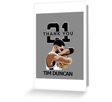Tim Duncan Retire Greeting Card