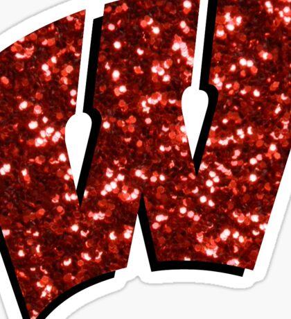 Glitter Wisconsin W Sticker