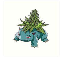 Stoned Bulbasaur Art Print