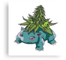 Stoned Bulbasaur Canvas Print