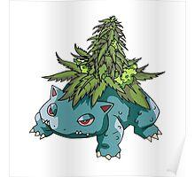 Stoned Bulbasaur Poster