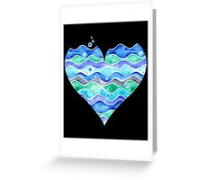 A Sea of Love (white) Greeting Card