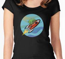 Space Tardigrade: Intrepid Explorer Women's Fitted Scoop T-Shirt