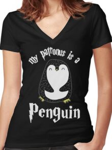 Limited Edition - Penguin Women's Fitted V-Neck T-Shirt