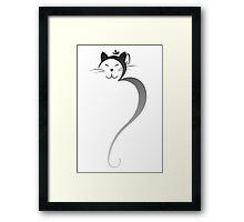Om Kitty - Silver Fade Framed Print