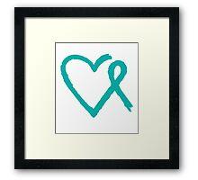 Heart Ribbon Framed Print