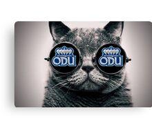 ODU Cat- Black Canvas Print