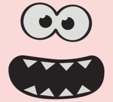 Funny Cookie Monster (Smiley Comic) Face (blue background)) Kids Tee