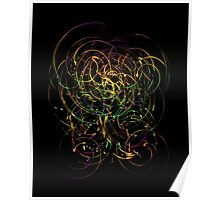 Abstract colorful painted cloud imagination Poster