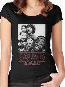 Stranger Things Squad Goals Women's Fitted Scoop T-Shirt