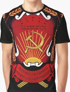 USSR Russia Soviet Union Emblem Wolgadeutschen, Germany Graphic T-Shirt