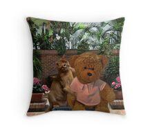 AW DON'T LOOK SO SAD TEDDY - LET ME GIVE U A HUG-PICTURE/CARD/PILLOW/TOTE BAG Throw Pillow