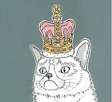 Grumpy Cat In A Crown by Adam Regester