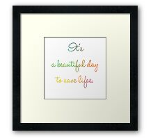 Beautiful day color Framed Print