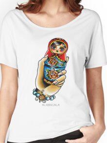 Hand Holding Matryoshka  Women's Relaxed Fit T-Shirt