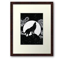 Wolf Silhouette Framed Print