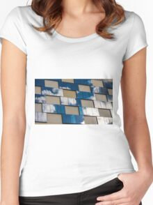 Cloudy Reflections Women's Fitted Scoop T-Shirt