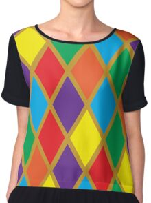 Argyle Stained Glass Chiffon Top
