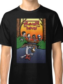 Calvin and Hobbes in the Upside Down Classic T-Shirt