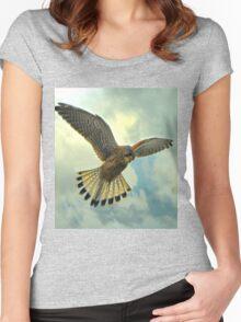 Is it a bird? Is it a plane? Women's Fitted Scoop T-Shirt