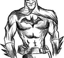 Batman Sketch by Suzanne Daniel
