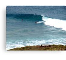 Surfing at Lennox Head Canvas Print