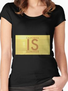 California IS Summer Women's Fitted Scoop T-Shirt