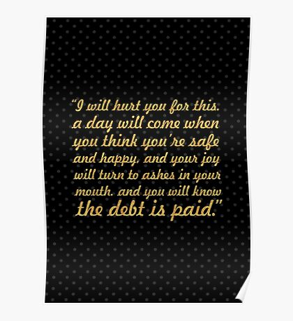 """I will hurt... """"Tyrion Lannister"""" Inspirational Quote Poster"""