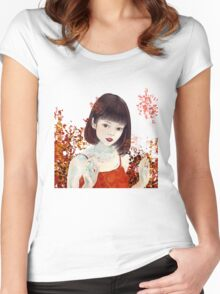 #24 Goldfish Women's Fitted Scoop T-Shirt