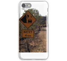 Beware of falling kangaroos iPhone Case/Skin