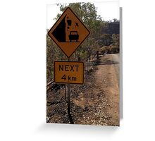 Beware of falling kangaroos Greeting Card
