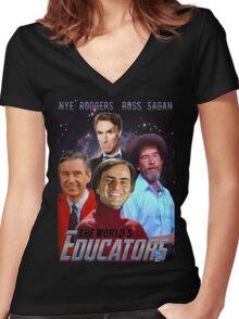 The Educators Women's Fitted V-Neck T-Shirt