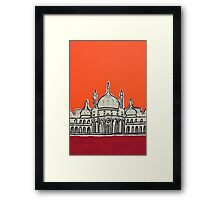 Sunset Pavilion Framed Print