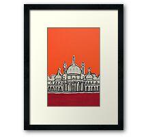 Sunset Pavilion Framed Print