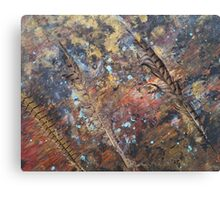 Three Feathers 'Rain Painting' Canvas Print