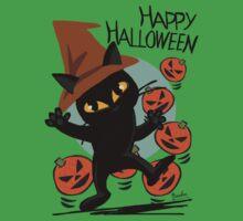 Cat Halloween Kids Tee