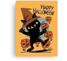 Cat Halloween Canvas Print