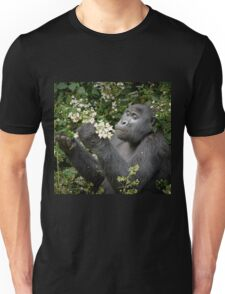 mountain gorilla eating flowers, Uganda Unisex T-Shirt