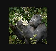 mountain gorilla eating flowers, Uganda T-Shirt