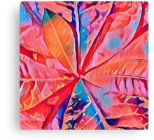 Rubber Plant Abstracted Canvas Print