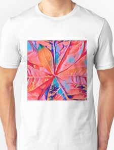 Rubber Plant Abstracted Unisex T-Shirt